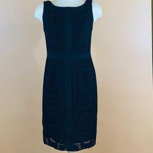 Black Dress with crochet overlay